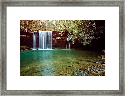 South Caney Falls Framed Print by Benjamin King