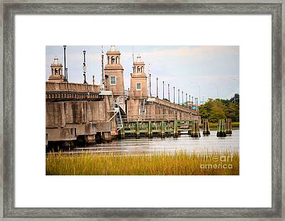 Framed Print featuring the photograph South Carolina Bridge by Tamera James