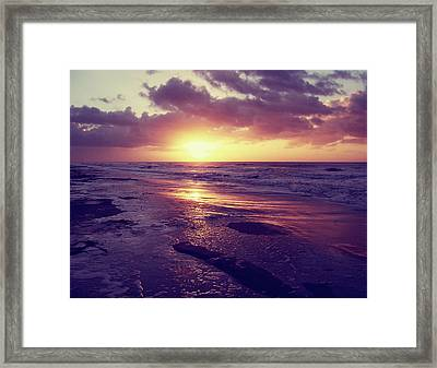 Framed Print featuring the photograph South Carolina Sunrise by Phil Perkins