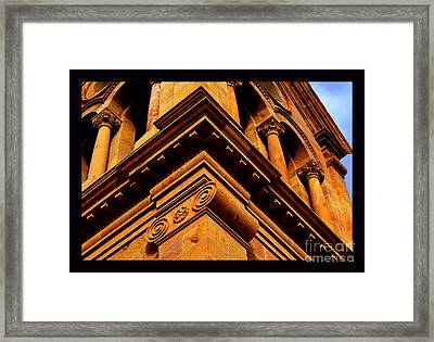 South Corner Of St. Francis Cathedral Framed Print by Susanne Still
