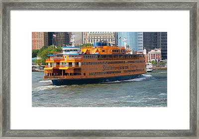 South Ferry Water Ride1 Framed Print by Terry Wallace