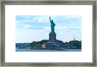 South Ferry Water Ride13 Framed Print by Terry Wallace
