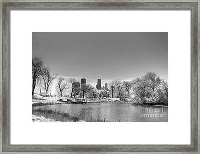 South From Lincoln Park Lagoon Framed Print