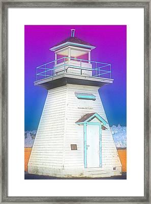 South Hamton Lighthouse 3 Framed Print by Cyryn Fyrcyd
