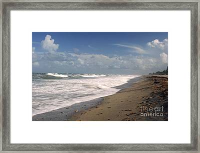 South Hobe Sound Beach Framed Print by Richard Nickson