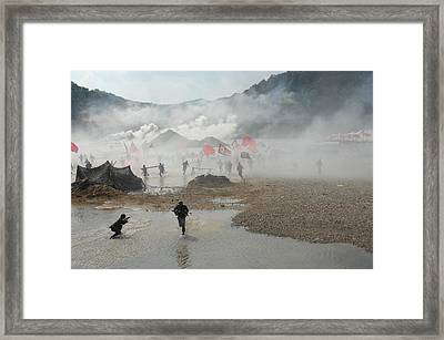 South Korean Soldiers Dressed As North Framed Print