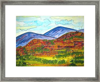 South Mesa Dark Framed Print