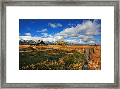 South Moulton Barn Framed Print