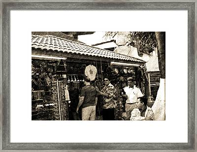 South Of The Border Framed Print by Barry Jones