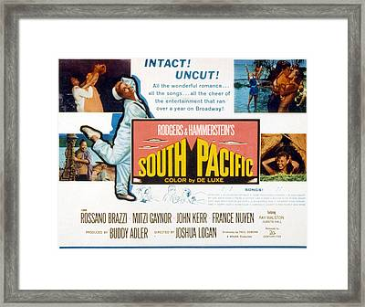 South Pacific, Mitzi Gaynor, 1958 Framed Print by Everett