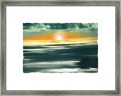 South Pacific Sunset Framed Print by Noah Brooks