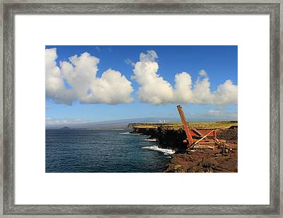 Framed Print featuring the photograph South Point Hawaii Boat Hoist by Scott Rackers