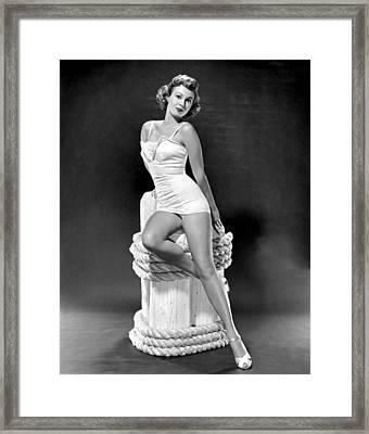 South Sea Woman, Virginia Mayo, 1953 Framed Print by Everett