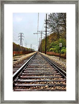 Framed Print featuring the photograph South Shore Line by Joe Urbz