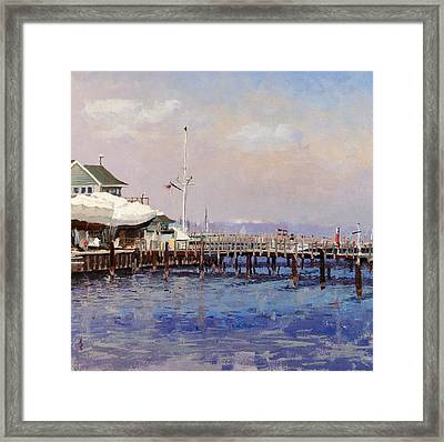 South Shore Marina Framed Print by Anthony Sell
