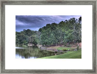 South Side Sunrise Lake Framed Print by Barry Jones
