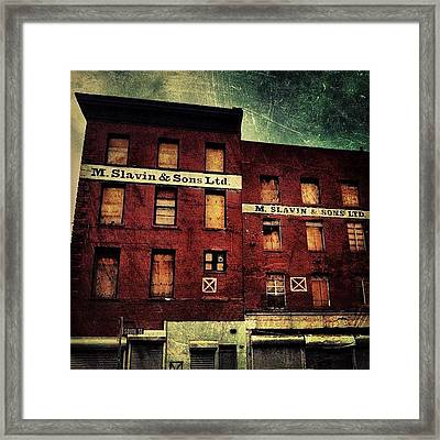 South Street Seaport. #nyc Framed Print