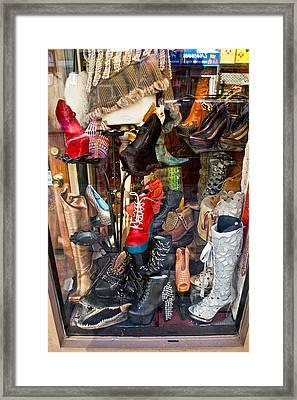 South Street Shoes Framed Print
