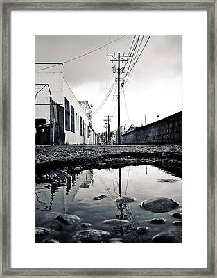 South Tacoma Alley Framed Print by Vorona Photography