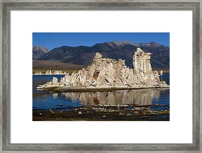 South Tufas And Eastern Sierra Nevada Framed Print