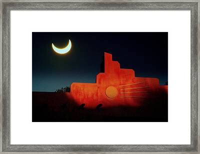 South West Eclipse.. Framed Print