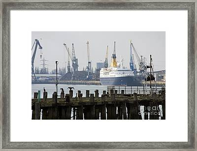 Southampton Old Pier And Docks Framed Print