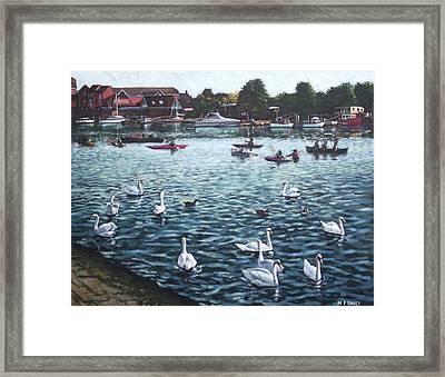 Southampton Riverside Park River Itchen Framed Print by Martin Davey