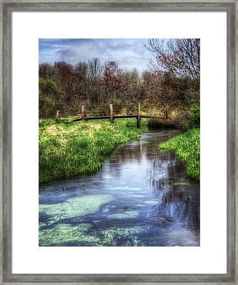 Southards Pond In Spring Framed Print by Vicki Jauron