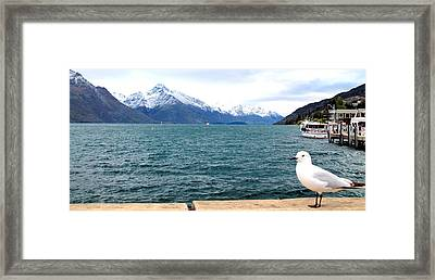 Framed Print featuring the photograph Southern Alps Across Lake Wakatipu by Laurel Talabere