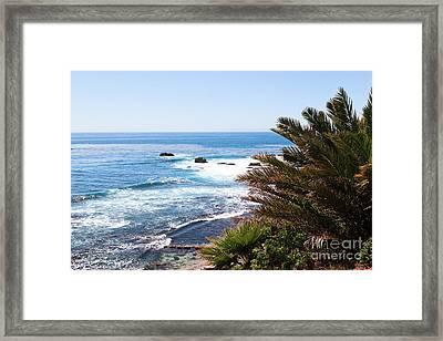 Southern California Coastline Photo Framed Print by Paul Velgos