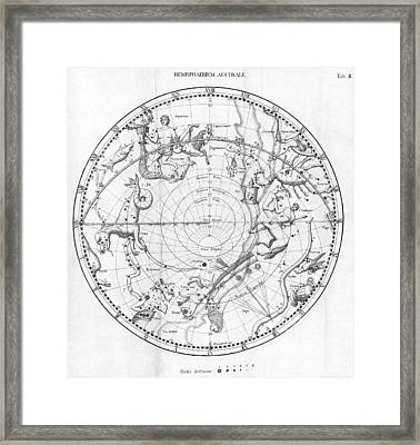 Southern Celestial Map Framed Print by Science, Industry & Business Librarynew York Public Library