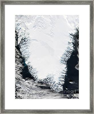 Southern Greenland Framed Print by NASA / Science Source