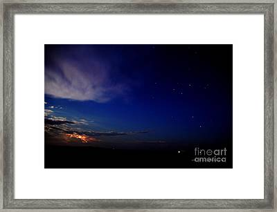 Framed Print featuring the photograph Southern Ocean Storm by Vicki Ferrari