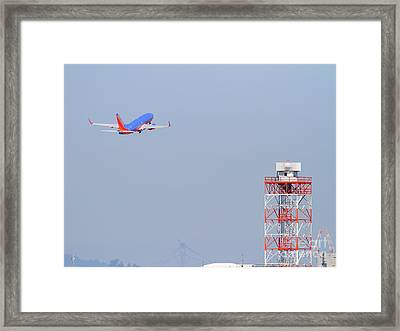 Southwest Airlines Jet Airplane At San Francisco International Airport Sfo . 7d11935 Framed Print