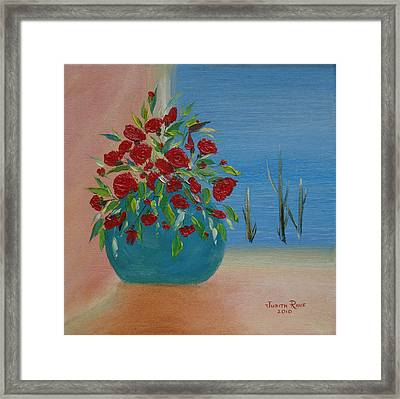 Framed Print featuring the painting Southwestern 1 by Judith Rhue