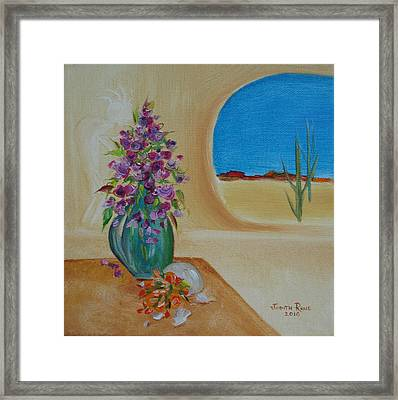Framed Print featuring the painting Southwestern 3 by Judith Rhue
