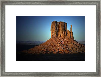 Framed Print featuring the photograph Southwestern Evening by Renee Hardison