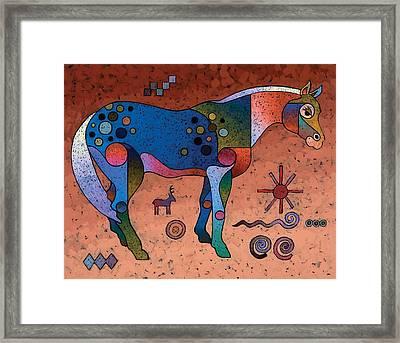 Southwestern Symbols Framed Print by Bob Coonts