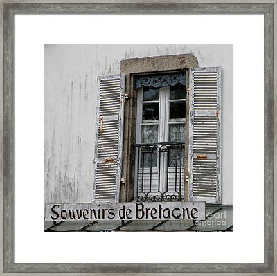 Framed Print featuring the photograph Souvenirs De Bretagne by Lainie Wrightson
