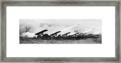 Soviet Katyusha Rocket Launchers, 1942 Framed Print