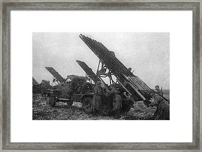 Soviet Katyusha Rocket Launchers, 1943 Framed Print