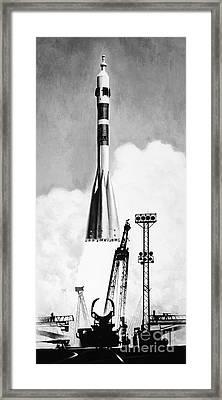 Soviet Soyuz Rocket, 1975 Framed Print by Granger