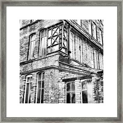 Sowerby Bridge Mill Detail #yorkshire Framed Print