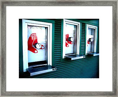 Sox Box Framed Print by Sheryl Burns