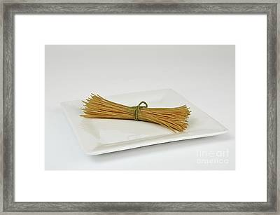 Soybean Spaghetti Framed Print by Photo Researchers