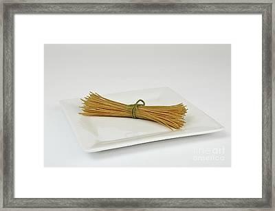Soybean Spaghetti Framed Print