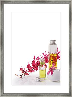 Spa Set With Copy Space Framed Print by Atiketta Sangasaeng