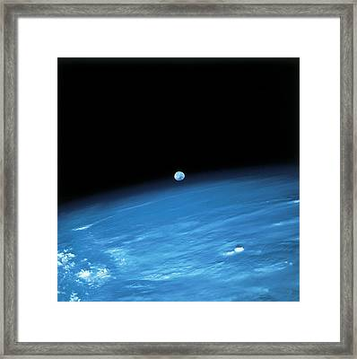 Space And The Earth Framed Print by Stockbyte