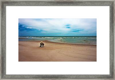 Space Framed Print by Betsy Knapp