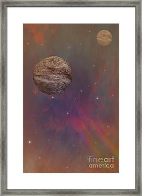 Space Framed Print by Brian Roscorla
